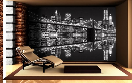 New York Lights Black&White wall mural
